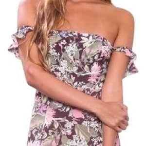 *trade for Bex*** Multicolor Bardot mini dress